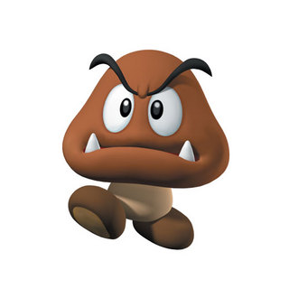 Mario Bros Brown Mushroom